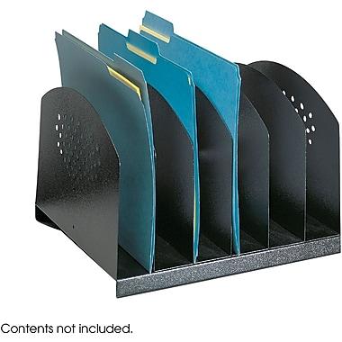 Safco® Desk Rack, 6 Compartments, Black (3155BL)