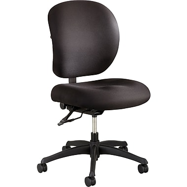 Safco Alday Fabric Computer and Desk Office Chair, Adjustable Arms, Black (XX3391BL)