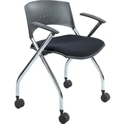 Safco® xtc.® 3481 Steel and Plastic Upholstered Nesting Chair, Black