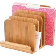 Safco® 3643 Bamboo 5 Tier Desktop Organizer, Natural