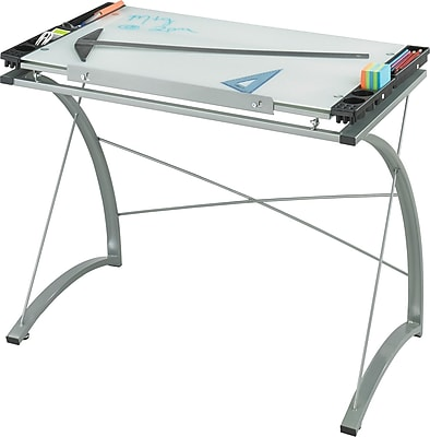 Safco Xpressions™ 41''Lx24''D Rectangular Drafting Table, Metallic Gray