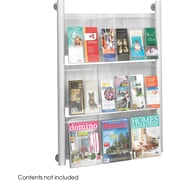 Safco 9-Pocket Luxe Aluminum Magazine Rack, Silver