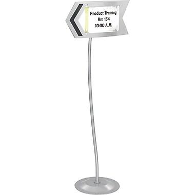 Safco® 4169 Gray Customizable Arrow Sign, Steel