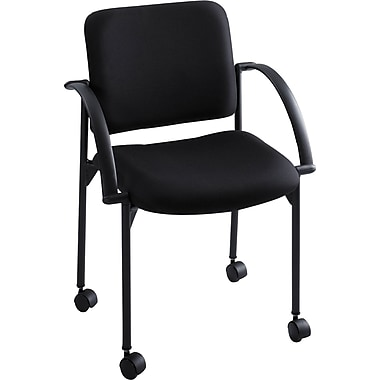 Safco® Moto™ 4184 Stacking Chair, Black, 2/Pack