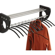"Safco® Mode™ 4212 36"" Wood Wall Coat Rack With Hangers, Black"