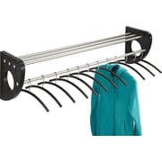"""Safco® Mode™ 4213 48"""" Wood Wall Coat Rack With Hangers, Black"""