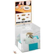 Safco® 4234 Large Acrylic Collection Suggestion Box, Clear