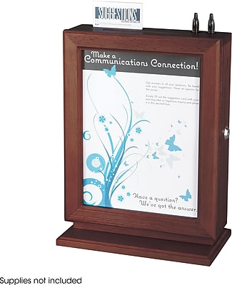 Safco® Personalizable Wood Suggestion Box (4236MH)