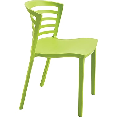 Safco® Entourage™ 4359 Entourage Stacking Chair, Grass, 4/Pack