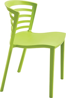 Safco® Entourage™ Stacking Chair, Grass, Seat: 18