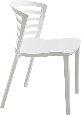 Safco® Entourage™ Stacking Chair, White, Seat: 18