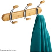 Safco® 4612 Bamboo Wall Rack, 3 Hook, Natural