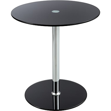 Safco® 5095 Glass Accent Table, Black