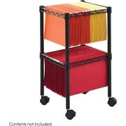Safco® 5221 2-Tier Compact File Cart, Black