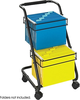 Safco® Jazz™ 5223 Two-Tier File Cart, Black