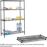 "Safco® 5242 Steel Commercial Extra Shelf Pack, 48""(W) x 18""(D), Black"