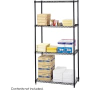 "Safco® 5276 Steel Commercial Wire Shelving, 36""(W) x 18""(D), Black"