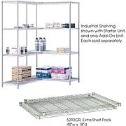 "Safco Industrial Extra 2-Shelf Metal Shelf, 48.03"", Metallic Gray (5293GR)"