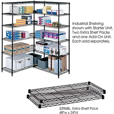 Safco® 5296 Steel Industrial Extra Shelf Pack, 48