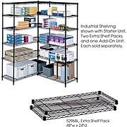 """Safco Industrial 2-Shelf Metal Extra Shelf, 48.03"""", Black (5296BL)"""