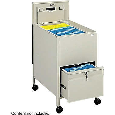 Safco Tub File with Locking Drawer, Putty, 25 3/4