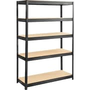 "Safco® 6246 Boltless Steel and Particleboard Shelving, 48""(W) x 18""(D), Black"