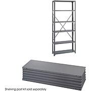 """Safco Industrial 6-Shelf Metal Extra Shelf, 36"""", Gray (6250)"""