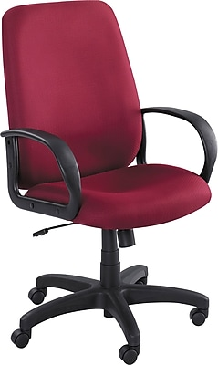 Safco Poise Fabric Executive Office Chair, Fixed Arms, Burgundy (XX6300BG)