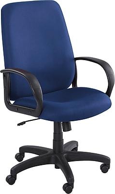 Safco Poise Fabric Executive Office Chair, Fixed Arms, Blue (XX6300BU)