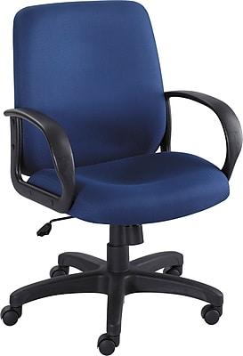 Safco Poise Fabric Executive Office Chair, Fixed Arms, Blue (XX6301BU)