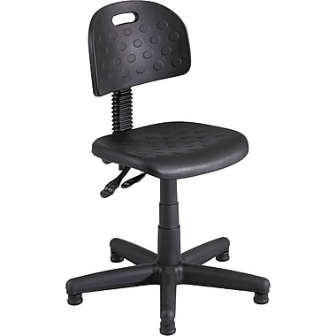 Safco Soft Tough Plastic Computer and Desk Office Chair, Armless, Black (XX6902)