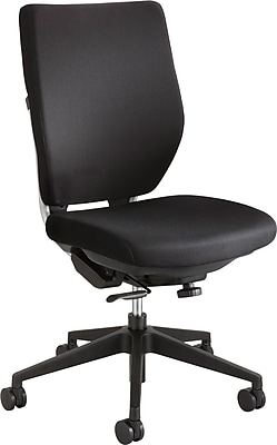 Safco Fabric Computer and Desk Office Chair, Armless, Black (XX7065BL)