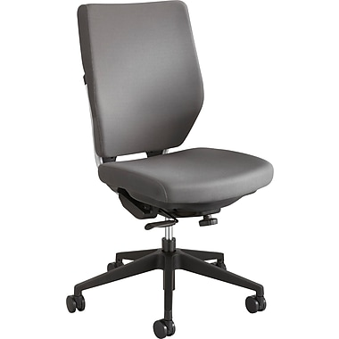 Safco 7065GR Sol Fabric High-Back Armless Task Chair, Gray