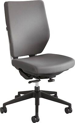 Safco 7065GR Sol Fabric High-Back Armless Task Chair, Gray