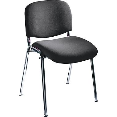 Safco® 7400 Visit Upholstered Stacking Chair, Black