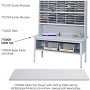 Safco® E-Z Sort® 7750 Sorting Tabletop, Gray