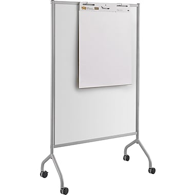 Safco® Impromptu® Full Whiteboard Screen, Metallic Gray (8511GR)