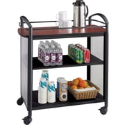 Safco® Impromptu® 8967 Beverage Cart, Cherry Top and Black Frame