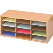 "Safco® 9401 Literature Organizer, 12""(H) x 29""(W) x 12""(D), Medium Oak"