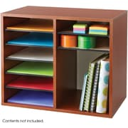 "Safco® 9420 Adjustable Literature Organizer, 16""(H) x 19 1/2""(W) x 12""(D), Cherry"