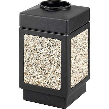Safco Canmeleon 38 gal. Plastic Open Top Receptacle, Black