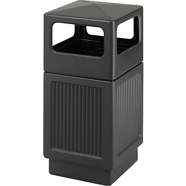 Safco Canmeleon 38 gal. Plastic Recycling Receptacle, Black
