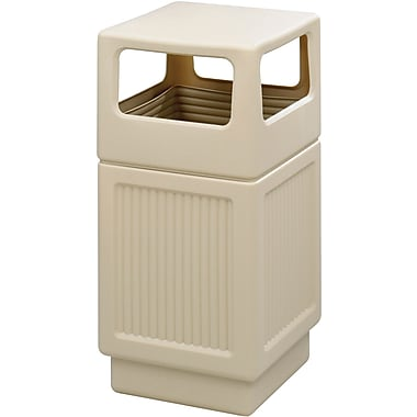 Safco Canmeleon 38 gal. Plastic Recycling Receptacle, Tan