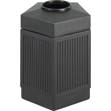 Safco Canmeleon 45 gal. Plastic Trash Can without Lid, Black