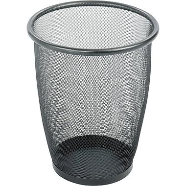 Safco® Onyx™ 9717 Black Mesh Round Wastebasket, Medium