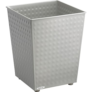 Safco 6 gal. Stainless Steel Trash Cans without Lid, Gray