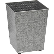 Safco 6 gal. Stainless Steel Trash Cans without Lid, Black Speckle