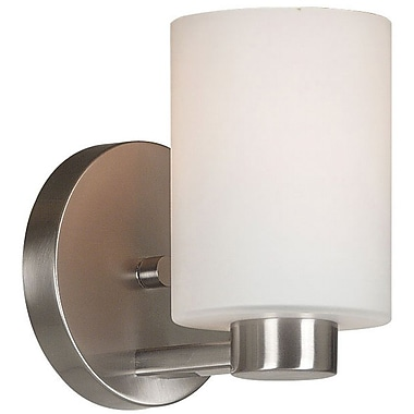 Kenroy Home Encounters 1 Light Wall Sconce, Brushed Steel Finish