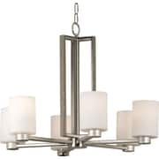 Kenroy Home Encounters 6 Light Chandelier, Brushed Steel Finish