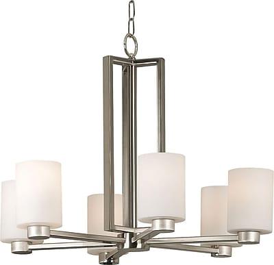 Kenroy Home Encounters 6 Light Chandelier, Brushed Steel Finish